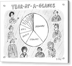 Year At A Glance--a Pie Chart Of The Months Acrylic Print