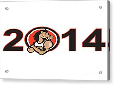 Year Of Horse 2014 Mascot Acrylic Print by Aloysius Patrimonio