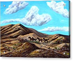 Year Of The Horse Acrylic Print by Caroline Owen-Doar
