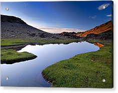 Yeguas Lake At Sunset Acrylic Print by Guido Montanes Castillo