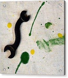 Yellow # 5 Acrylic Print by Tom Druin