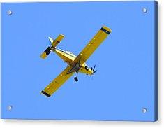 Yellow Airplane Acrylic Print