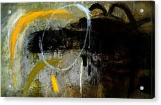 Yellow And Black Forms Acrylic Print by Jeremy Norton
