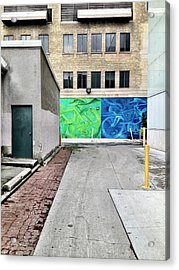 Yellow And Blue Make Green Acrylic Print
