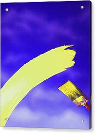 Yellow And Blue Acrylic Print by Steven Huszar