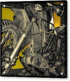 Yellow And Metal Acrylic Print
