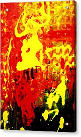 Yellow And Red Acrylic Print by Patricia Motley