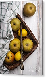 Yellow Apples Acrylic Print by Jelena Jovanovic