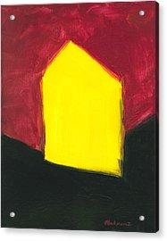 Yellow Arthouse Acrylic Print