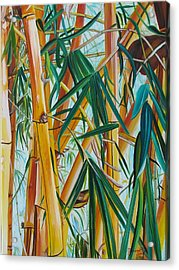 Acrylic Print featuring the painting Yellow Bamboo by Marionette Taboniar