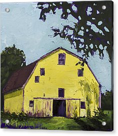 Yellow Barn Acrylic Print