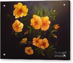 Yellow Bird Acrylic Print by Sharon Burger