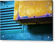 Yellow-blue Abstract Acrylic Print
