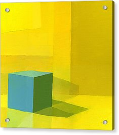 Yellow  Blue  Acrylic Print by Daniel Cacouault