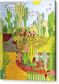Yellow Brick Road Acrylic Print