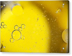 Yellow Bubbles Acrylic Print
