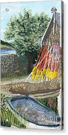 Yellow Buoys Acrylic Print
