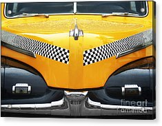 Yellow Cab - 1 Acrylic Print by Nikolyn McDonald