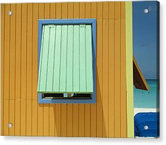 Yellow Cabin Acrylic Print by Randall Weidner