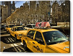 Yellow Cabs Acrylic Print by Joanna Madloch