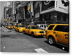 Acrylic Print featuring the photograph Yellow Cabs by Randi Grace Nilsberg