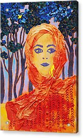 Yellow Canary Acrylic Print by Diane Fine