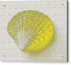 Yellow Acrylic Print by Carol Lynch