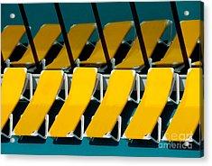 Yellow Chairs Reflected Acrylic Print