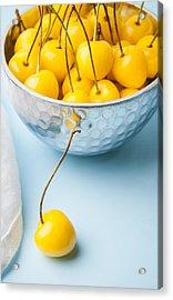 Yellow Cherries 1 Acrylic Print by Jennifer Blume