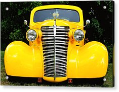 Yellow Chevy Acrylic Print