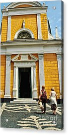 Acrylic Print featuring the photograph Yellow Church by Allen Beatty