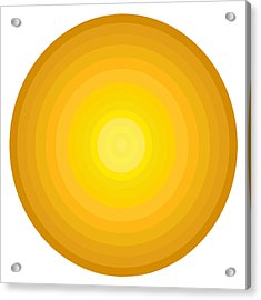 Yellow Circles Acrylic Print