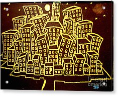 Yellow City Or City Of Gold Acrylic Print