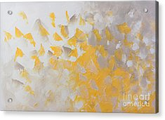 Yellow Cloud Acrylic Print