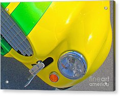 Yellow Cobra Acrylic Print by Hot Rod Pics