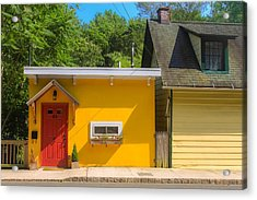 Yellow Cottage Acrylic Print