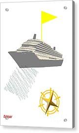 Yellow Cruise Acrylic Print by Tina M Wenger