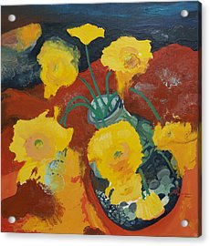 Yellow Daisies Acrylic Print by Joseph Demaree