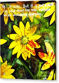 Yellow Daisies Acrylic Print by Mukta Gupta