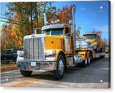 Yellow Eighteen-wheelers Acrylic Print