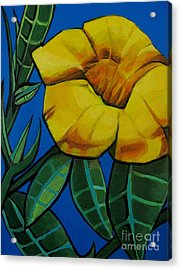 Yellow Elder - Flower Botanical Acrylic Print