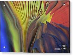 Yellow Fan And Flower Acrylic Print by Kimberly Lyon