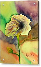 Yellow Flower Acrylic Print by Anais DelaVega