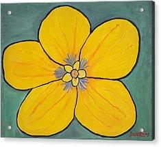 Yellow Flower Acrylic Print by Jose Rojas
