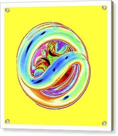 Yellow Fluorescent Acrylic Print