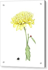 Acrylic Print featuring the painting Yellow Fun by Heidi Kriel