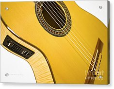 Yellow Guitar Acrylic Print