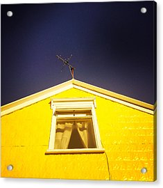 Yellow House In Akureyri Iceland Acrylic Print