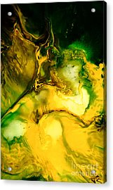 Yellow Jacket Abstract Art Acrylic Print by Serg Wiaderny