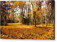 Acrylic Print featuring the photograph Yellow Leaf Road by William Jobes